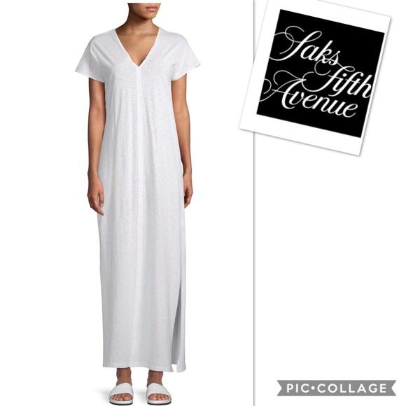 Saks Fifth Avenue Dresses & Skirts - Saks Fifth Avenue V Neck Side Slit Cotton Dress